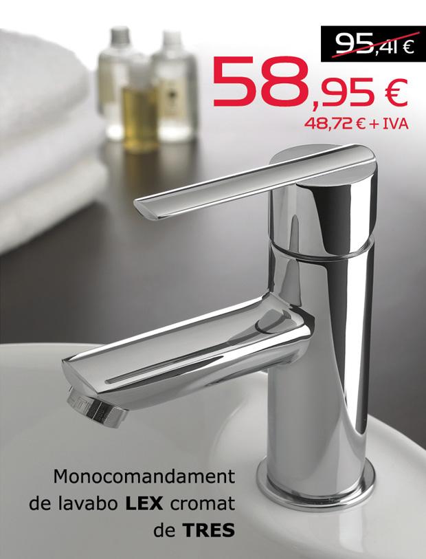 Monocomandament de lavabo LEX cromat de TRES.