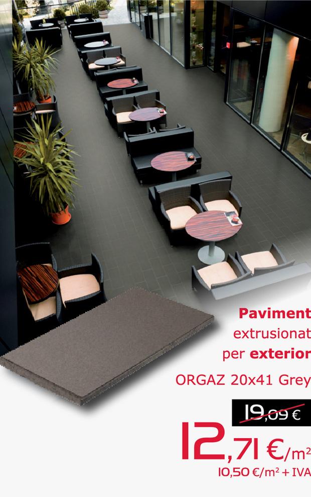 Paviment ORGAZ 20x41 GREY extrusionat per a exterior, per només 12,71 €/m2 (IVA inclòs)