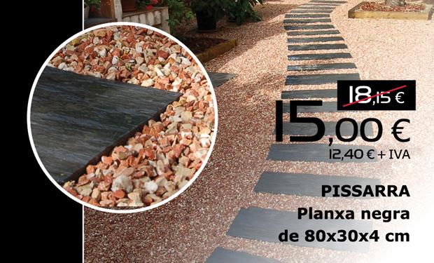 Planxa negra de pissarra de 80x30x4 cm, per només 15€ (IVA inclòs)