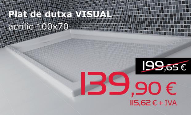 Plat de dutxa VISUAL acrílic 100x70, per només 139,90€ (IVA inclòs)