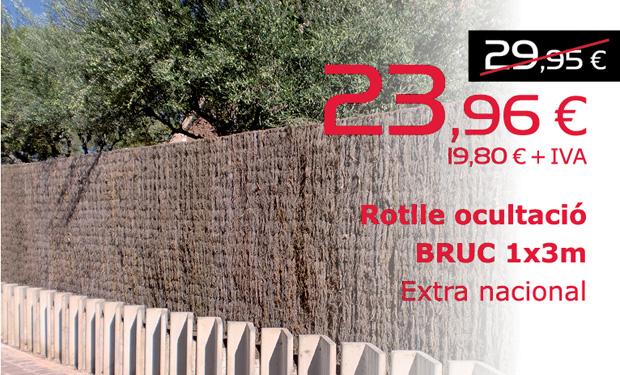 Rotlle d'ocultació BRUC 1x3m. Extra nacional. Ara per només 23,96€ (IVA inclòs)