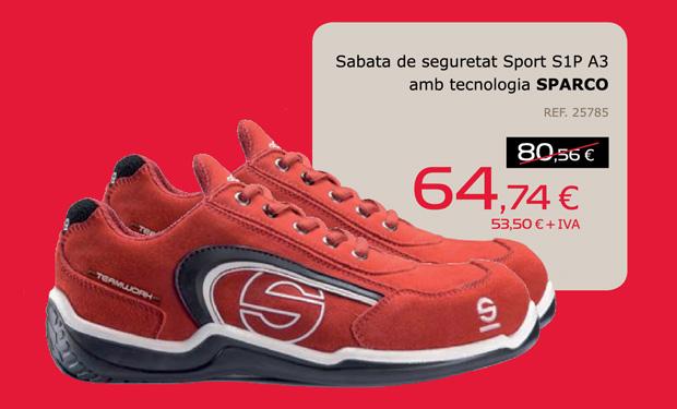Sabata de seguretat Sport S1P A3 amb tecnologia SPARCO, per només 64,74€.