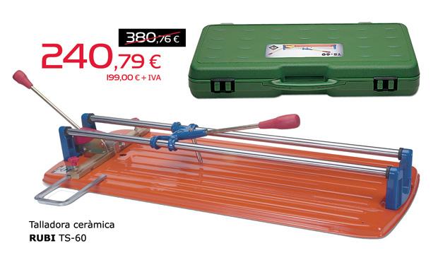 Talladora de ceràmica RUBI TS-60, per només 240,79€.