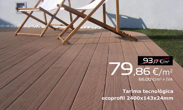 Tarima tecnológica ecoprofil 2400x143x24 mm, ahora por 79,86 €/m2