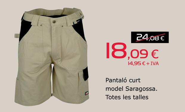 Pantaló curt model Saragossa. Totes les talles, per només 18,09€.