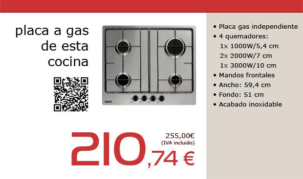 Placa de cocción a gas para cocina