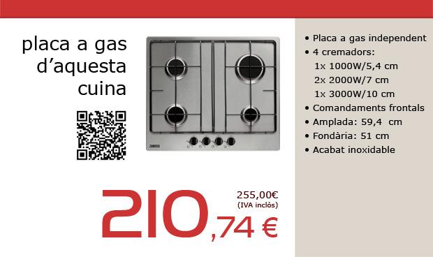 Placa de cocció a gas